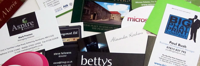 Business Cards at Wellingborough's coolest printers