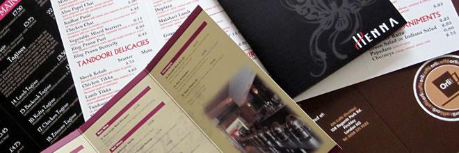 menu printers in wellingborough - call Big Phat Print on 01933 278545